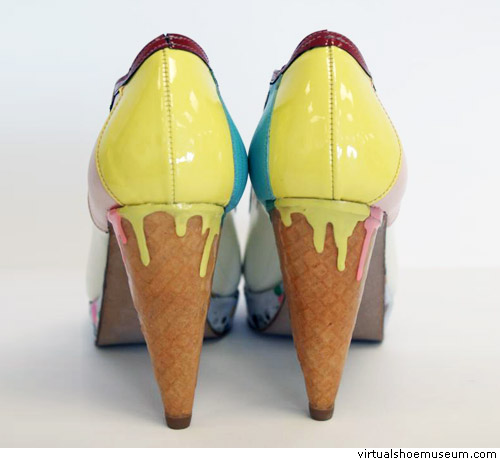 14b7a10caad8b1 Melting ice cream cone (photo from Virtual Shoe Museum)