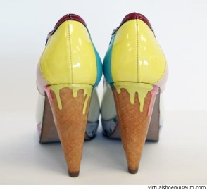 Melting ice cream cone (photo from Virtual Shoe Museum)